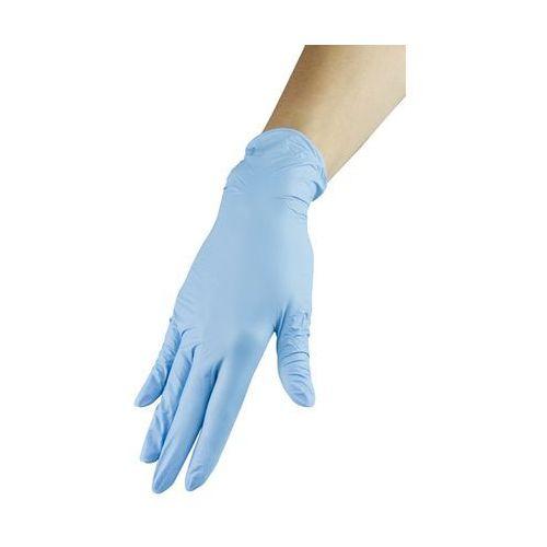 Neonail Rękawiczki nitrylowe - niebieskie, rozmiar l