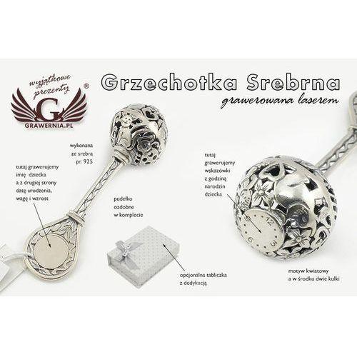 Grzechotka srebro - pamiątka chrztu świętego - wzór srb013 marki -