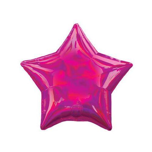Amscan Balon foliowy gwiazdka opalizujący fuksjowy - 46 cm - 1 szt.
