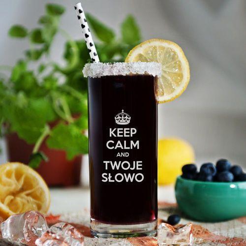 Mygiftdna Keep calm - grawerowana szklanka do drinków - szklanka