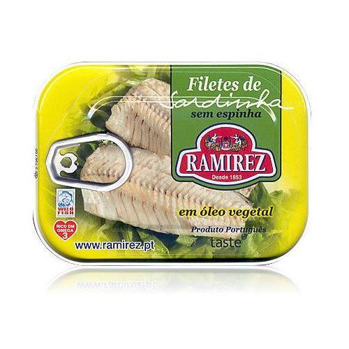 Filety z sardynek portugalskich w oleju roślinnym Ramirez 100g (5601010111714)