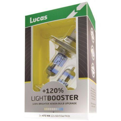 Lucas żarówki samochodowe lightbooster h1 12v 55w +120% - 2 sztuki