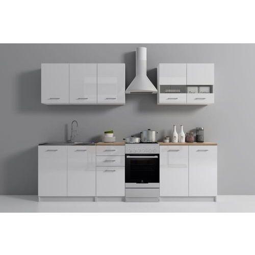Zestaw mebli kuchennych z blatem sonoma SET200 biały mat/połysk (5902838468166)