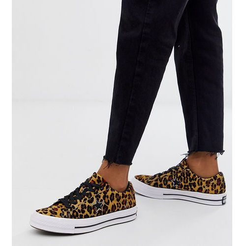 one star pony hair leopard print trainers - multi, Converse