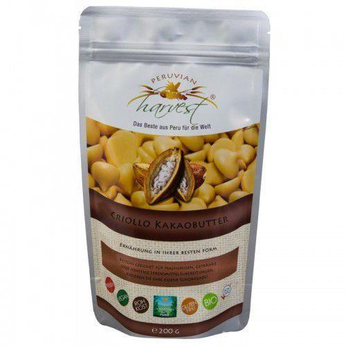 Masło Kakaowe criollo eko masło bio masło kakaowe z kakao criollo kakao naturalne 200g Peruvian Harvest, 8742-629B7