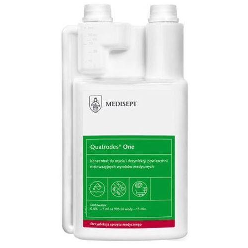 quatrodes one koncentrat do mycia i dezynfekcji powierzchni nieinwazyjnych wyrobów medycznych (1000 ml) marki Medisept