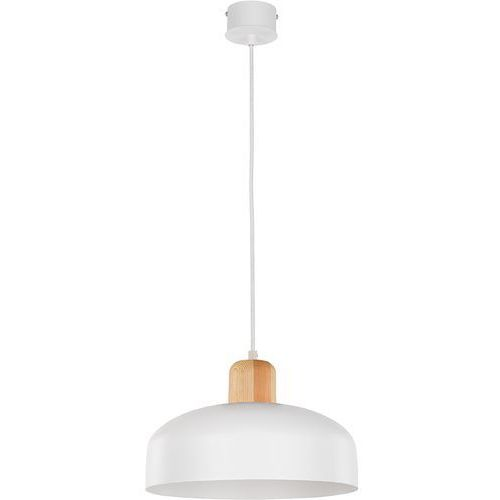 Lampa wisząca Sigma Wawa D biała naturalne drewno, 30786
