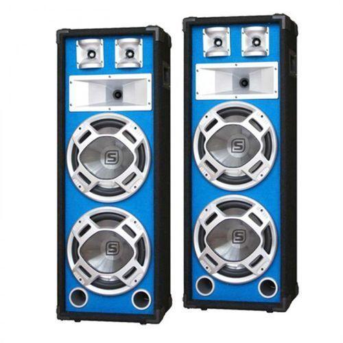 Para kolumny pa 20-cm niebieski efekt świetlny 2x600w marki Skytec