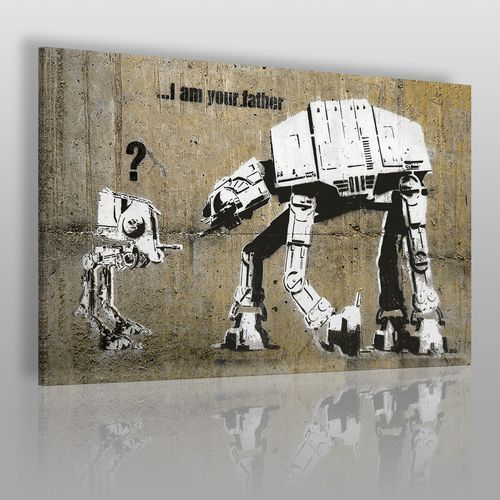 Banksy - star wars - nowoczesny obraz na płótnie marki Vaku-dsgn