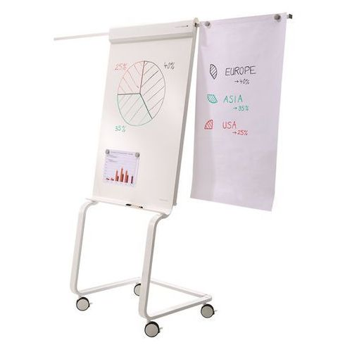 Flip-chart evolution plus, pow. pisania 680x970 mm, ruchome. stabilne, łatwe man marki Holtz