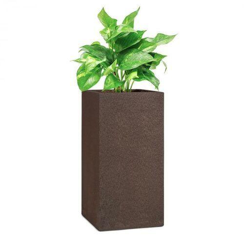 solid grow rust, pojemnik na rośliny, 40 x 80 x 40 cm, fibreclay, kolor rdzawy marki Blumfeldt