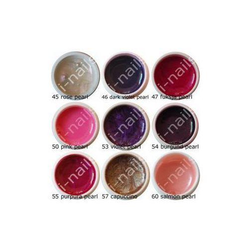 Zestaw MEGA 9 żeli UV kolorowych perłowych #3 i-nails (9 x 5ml) 45,46,47,50,53,54,55,57,60 z kategorii i żele
