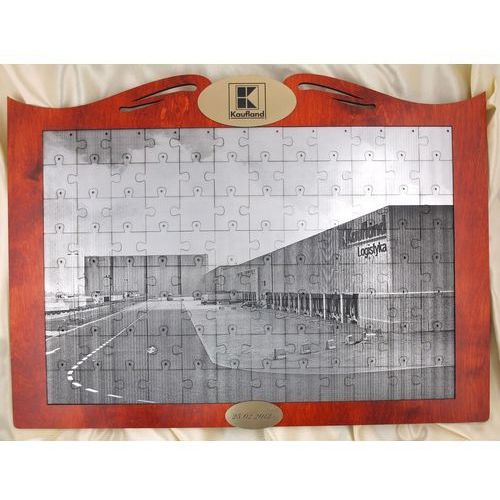 Foto puzzle z dowolną fotografią w ramie drewnianej marki Grawernia.pl - grawerowanie i wycinanie laserem