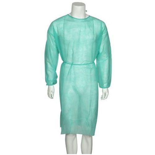 Fartuch dla odwiedzających, zielony (XL, 5szt.), towar z kategorii: Odzież medyczna