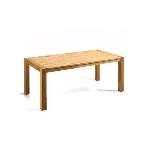 Stylowy stół dębowy kuchnia salon jadalnia 180 cm jasny brąz - natura od producenta Beliani