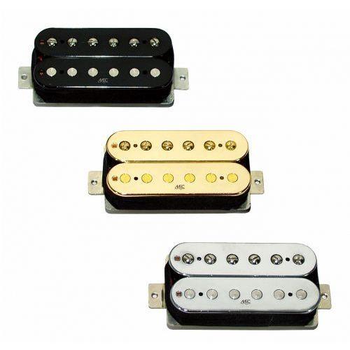 MEC Vintage Neck V Humbucker, Open Bobbin, przetwornik do gitary typu Humbucker do montażu przy gryfie, złoty