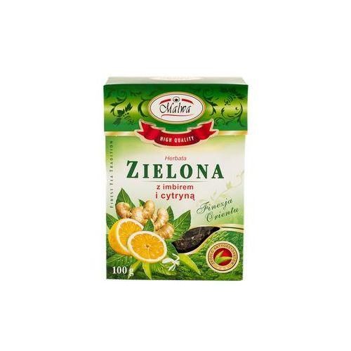 Malwa herbata zielona z imbirem i cytryną 100 gram marki Malwa tea