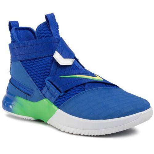 Nike Buty - lebron soldier xii flyease av3812 400 hyper royal/sonic yellow