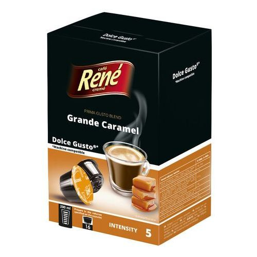 Kapsułki dolce gusto Rene grande caramel (kawa aromatyzowana) kapsułki do dolce gusto – 16 kapsułek