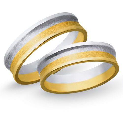 Obrączki ślubne z żółtego i białego złota 6mm - O2K/065, kup u jednego z partnerów