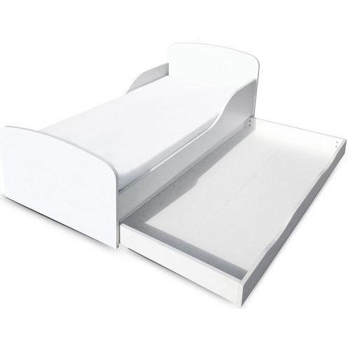 Białe łóżko dla dzieci z materacem i szufladą - oferta [65e94d7417e57410]