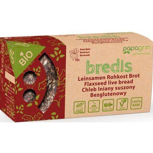 Papagrin (przekąski raw) Chleb lniany suszony o smaku buraków bezglutenowy bio 70 g - papagrin