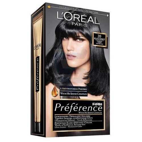 Loreal Paris Feria Preference Farba do włosów Black Sprint nr 20 - produkt dostępny w SuperKoszyk.pl