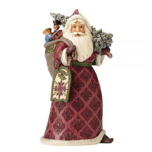 Jim shore Mikołaj z choinką i prezentami dreaming of christmas past (victorian santa) 4058751 figurka ozdoba świąteczna