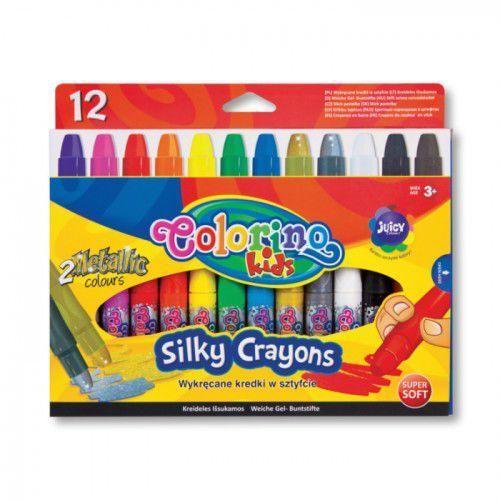 Wykręcane kredki żelowe w sztyfcie 12 kolorów marki Patio