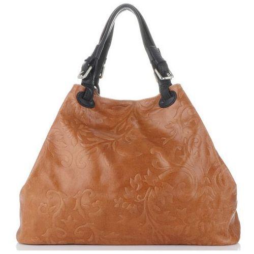 f0a12ef8f0a55 Genuine leather Uniwersalne włoskie torebki skórzane duży shopperbag z  tłoczeniami w kwiaty firmy rude (kolory) 279,00 zł Szukasz shopperki, która  wyłamuje ...