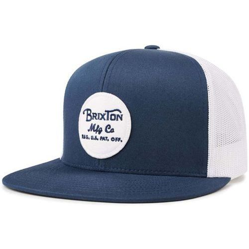 czapka z daszkiem BRIXTON - Wheeler Mesh Cap Navy-White-White (NVWHW) rozmiar: OS, kolor niebieski