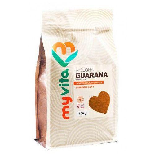Myvita Guarana, naturalna kofeina, zamiennik kawy, proszek 100 g