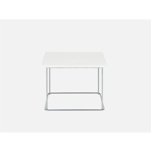Stolik kawowy CLASSIC H45 corian biały nogi chrome  1786-1540-C1-corianbialy, Sits z sfmeble.pl