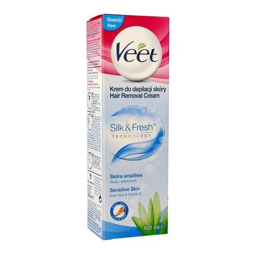 Veet depilatory cream krem do depilacji nóg do skóry wrażliwej aloes i witamina e 100 ml (4053700288205)