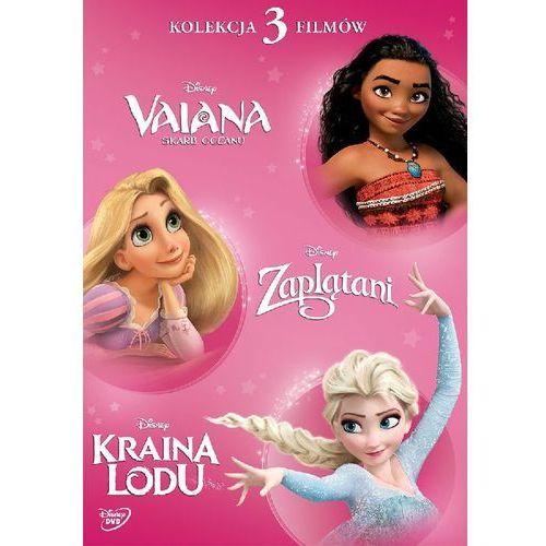 Disney księżniczka pakiet: vaiana/zaplatani/kraina lodu (dvd) - nifer lee darmow marki Ron clements, john musker/ nathan greno, byron howard/ chris buck, jen