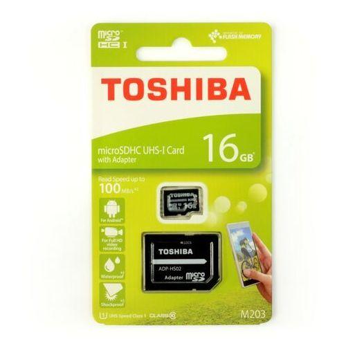 Toshiba Karta pamięci z adapterem microsdxc 16gb class 10 thn-m203k0160ea (4047999410942)
