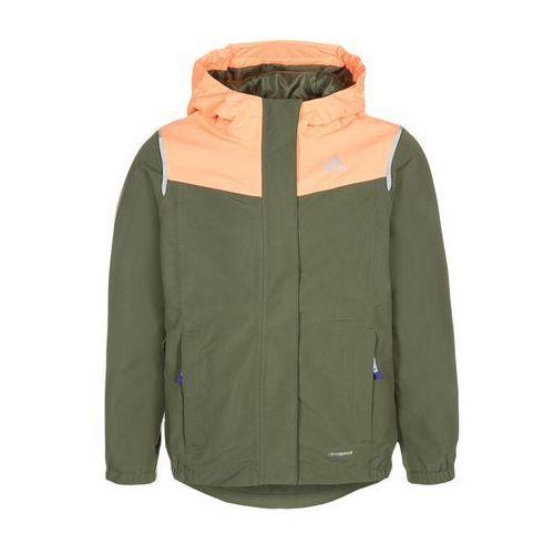 adidas Performance Kurtka Outdoor base green/flash orange - produkt z kategorii- kurtki dla dzieci
