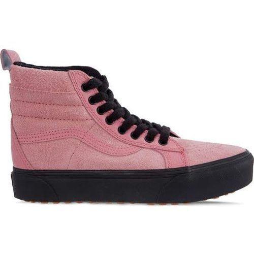 Vans sk8 hi platform mte uce desert rose black - buty sneakersy