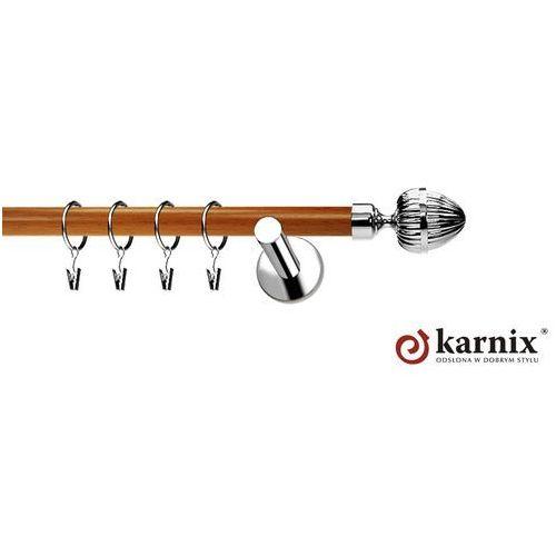 Karnix Karnisz metalowy neo prestige pojedynczy 19mm milano inox - calvados