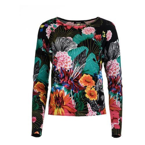Desigual sweter damski Hawai M czarny (8434486203280)