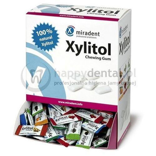 Miradent xylitol chewing gum 200 x 2szt. box-pudełko gumy do żucia (6 różnych smaków) marki Hager and werken
