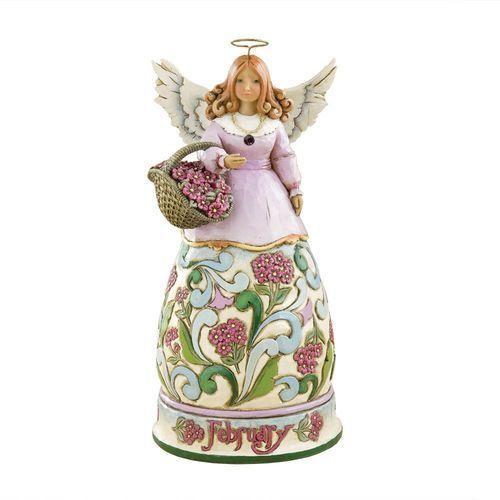 Anioł Luty Heartwood Creek Monthly Angel Figurine February 4012551 Jim Shore, pamiątka narodzin, chrztu figurka dewocjonalia