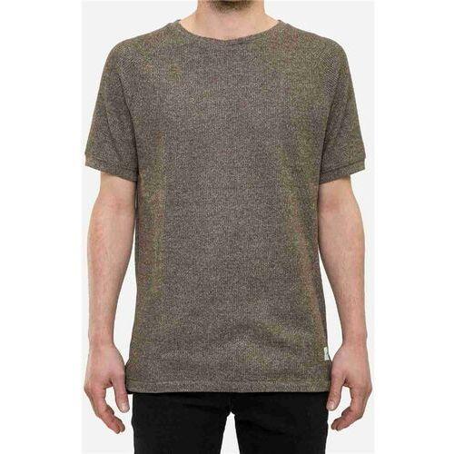 Koszulka - raglan t-shirt olive melange (olive mlg) rozmiar: l marki Reell