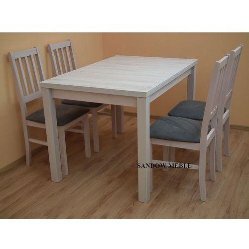 ZESTAW stół 80/120/150 z 4 krzesłami kolor DĄB BIAŁY LOFT, marki sandow do zakupu w Sandow.com