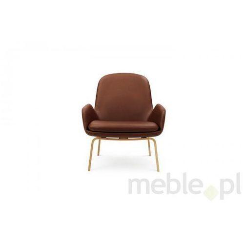 Fotel Era Dębowy z Niskim Oparciem sørensen-tango leather Normann Copenhagen 602848 z kategorii fotele