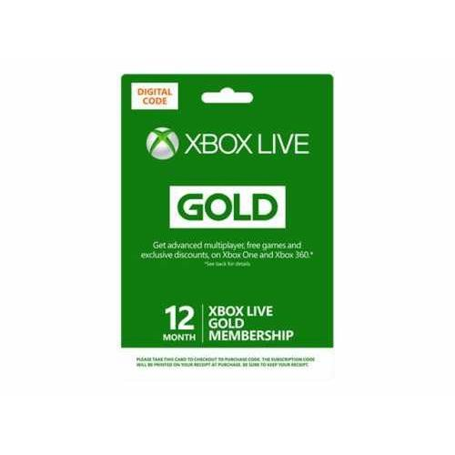 Microsoft Ms esd xbox live 12 month gold ww online esd r15