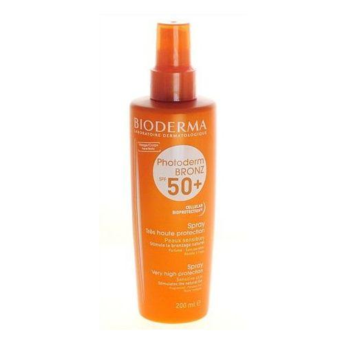 spray do skóry wrażliwej spf 50+ photoderm bronz (spray bardzo wys protection) 200 ml marki Bioderma