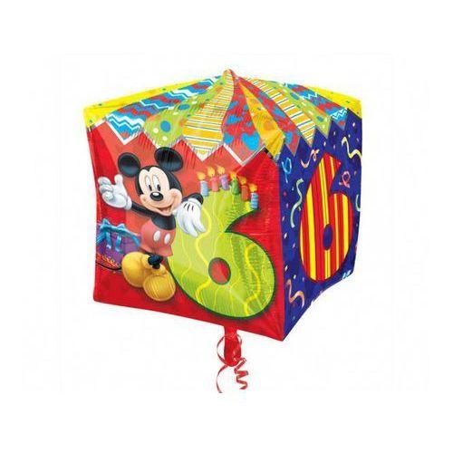 Amscan Balon foliowy sześcian myszka mickey na 6 urodziny - 38 cm - 1 szt. (0026635286329)
