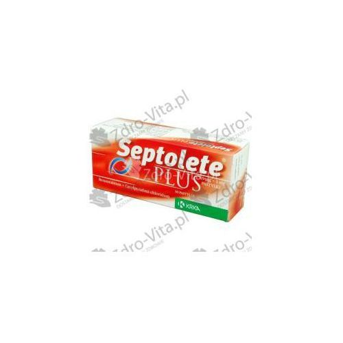 Septolete Plus pastyl.do ssania 5mg+1mg 30 pastyl. (3x10) - oferta [05af247657b1228f]
