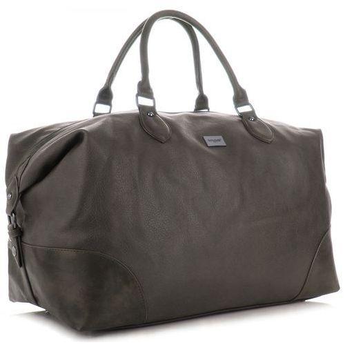 b4ea374a1c89f Uniwersalna i firmowa torba podróżna w rozmiarze xl wykonana z wysokiej  jakości skóry ekologicznej marki czekoladowa (kolory) marki David jones  199